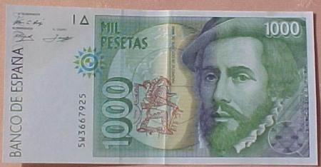 pesetas